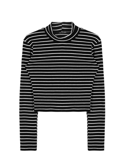 Long Sleeve Striped Crop
