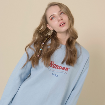 Wonder Land Sweat Shirt(Sky blue)