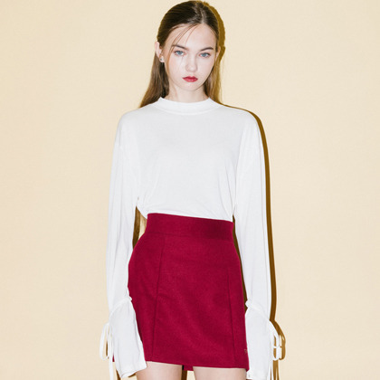 A-line Point Skirt(Wine)