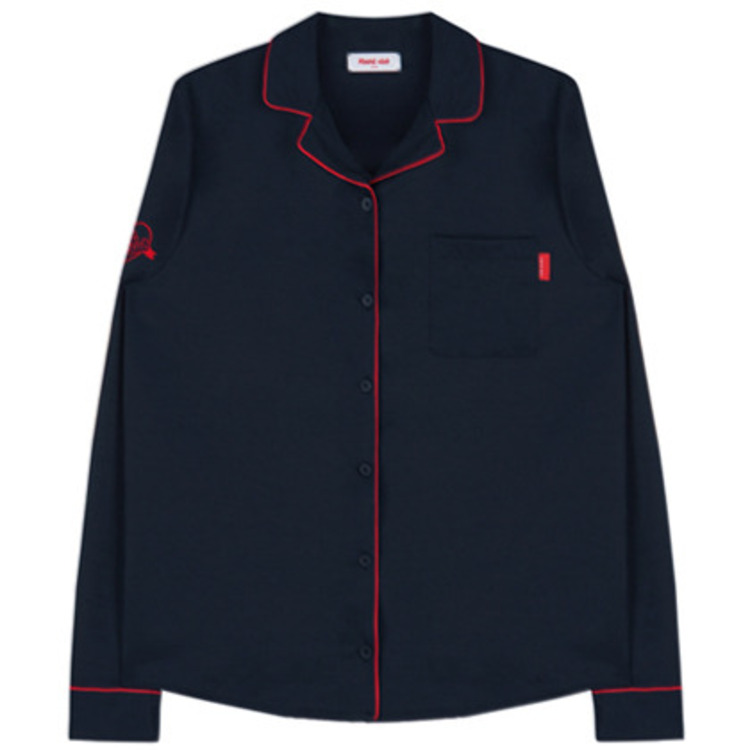 Heart Piping Shirt (Navy)
