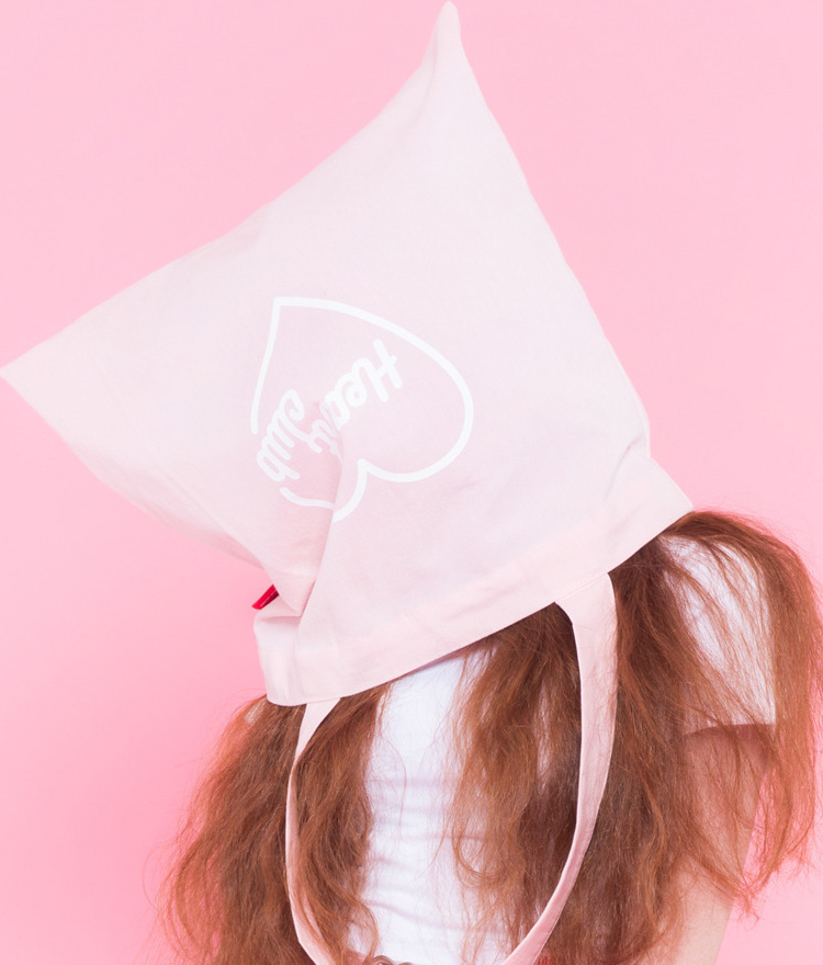 Heart eco bag(Pink)