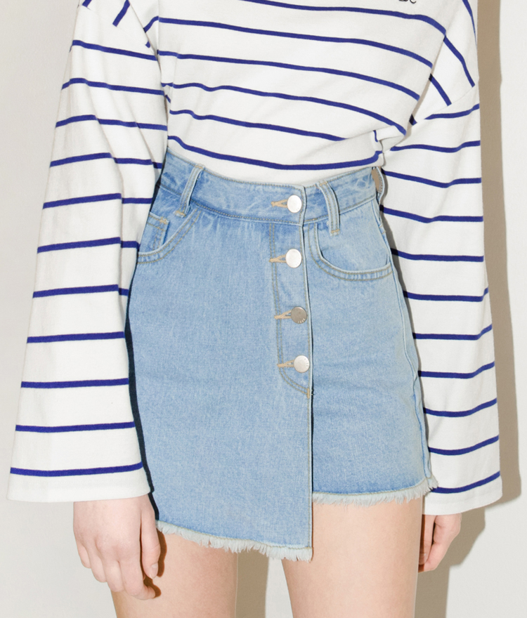 SEEK Denim Wrap Skirt Pants
