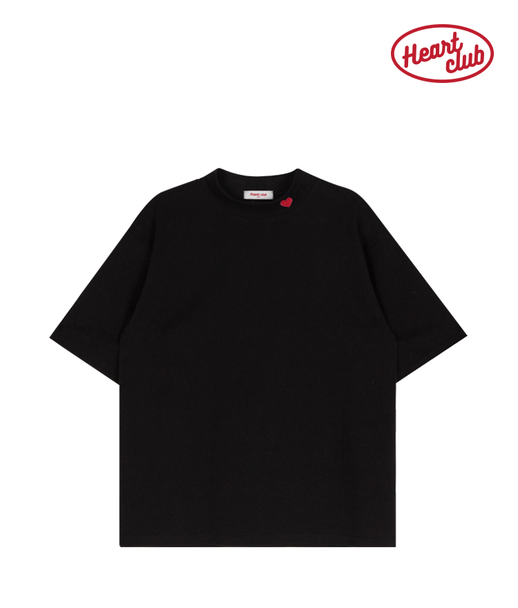 Heart High Neck Top(Black)