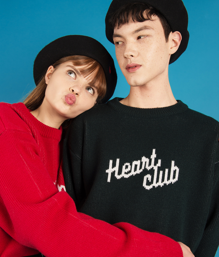 Heart Logo Knit