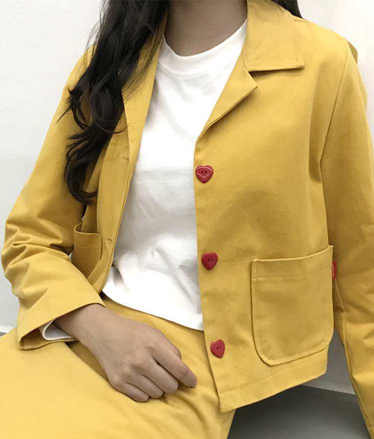 Heart Tailored Cotton Jacket