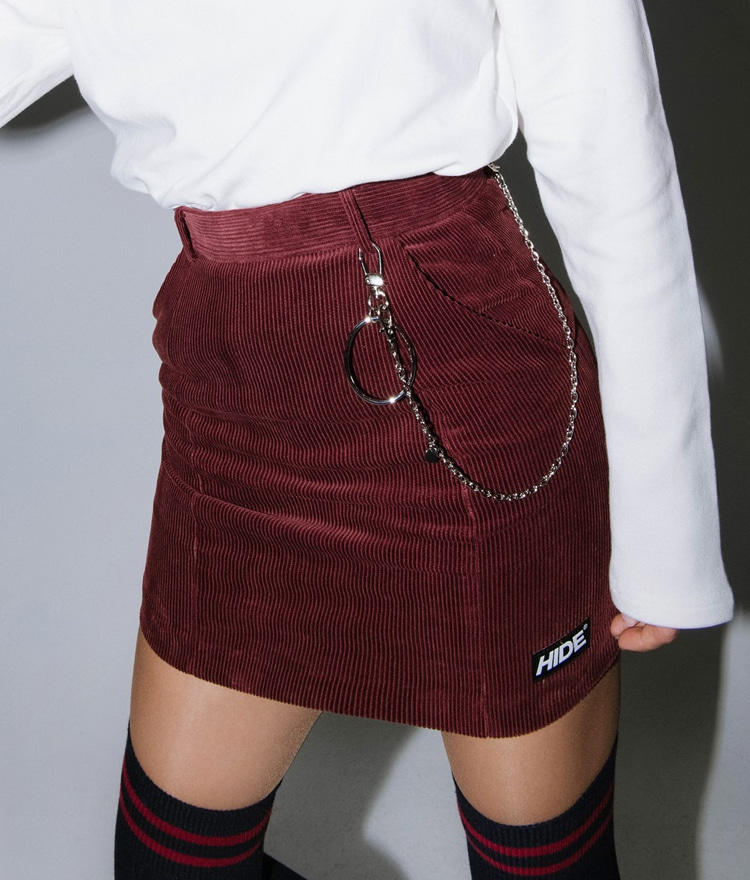Logo Corduroy Skirt Pants