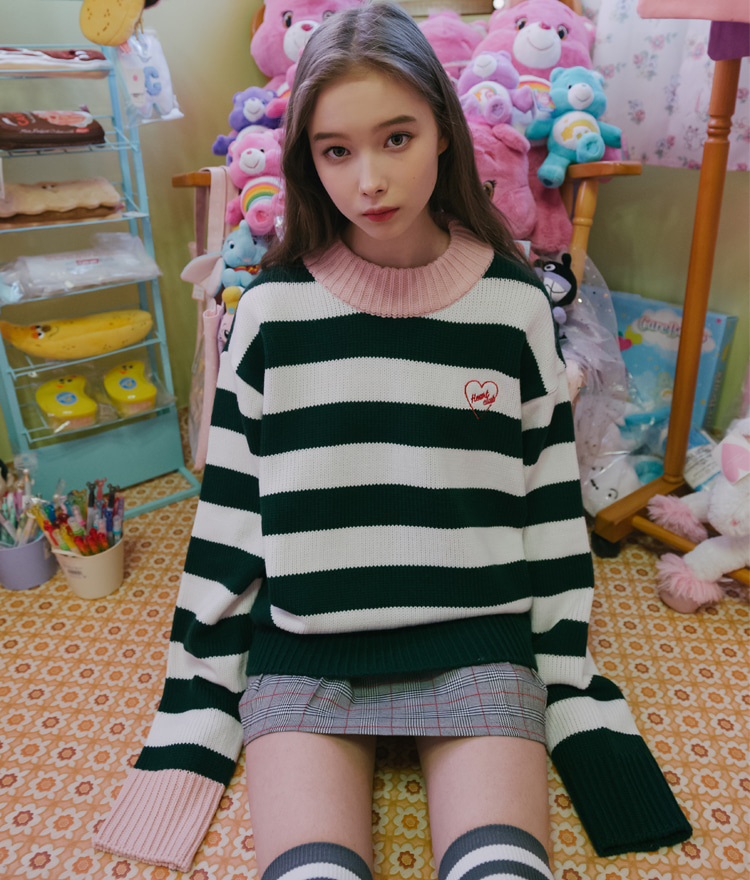 Stripe Highneck Knit