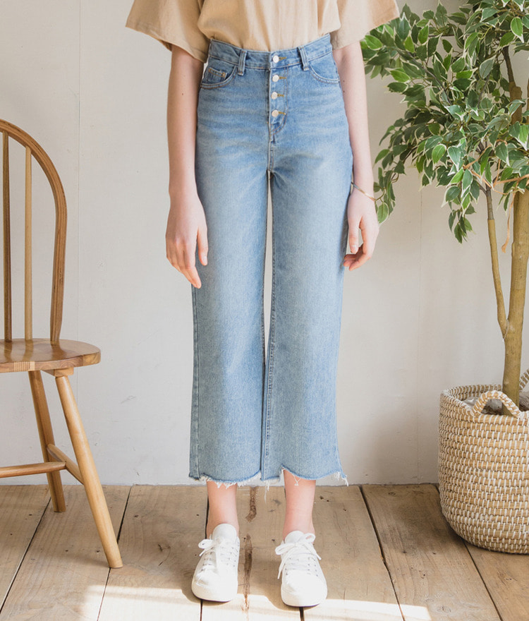 Button-up Denim Pants