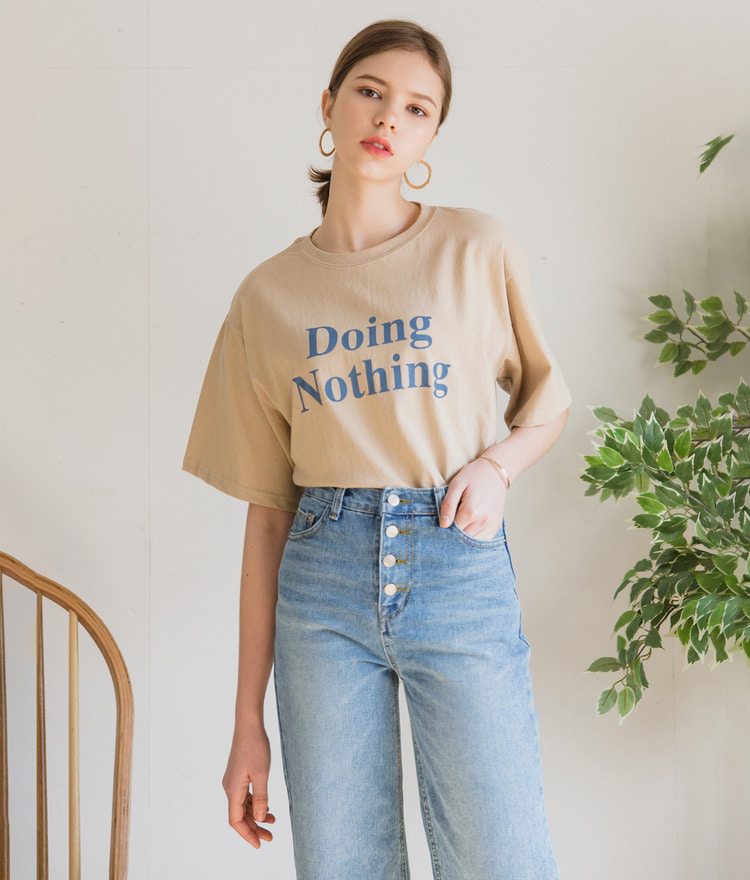 Nothing Lettering Top