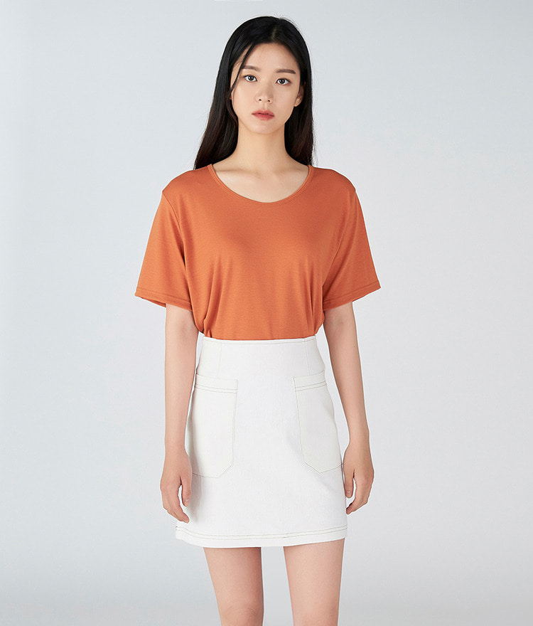 Twin Pocket Mini-Skirt