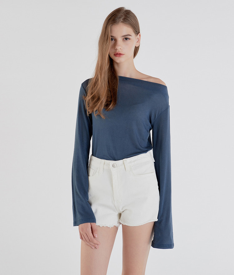 Loose Slim Boat Neck Top