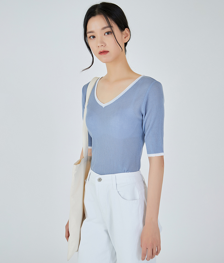 Summer Cool V-neck Knit