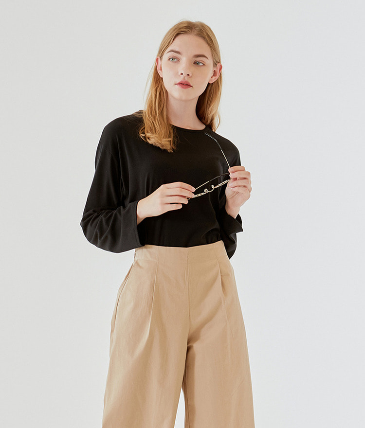 Loose Round-neck Top