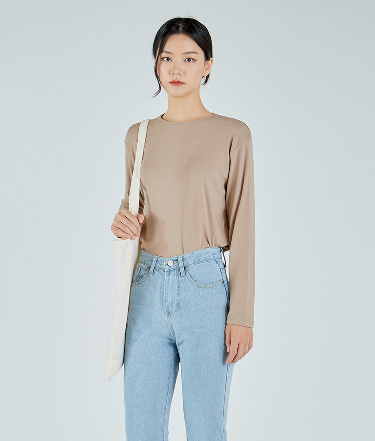 Soft Slim U-neck Top