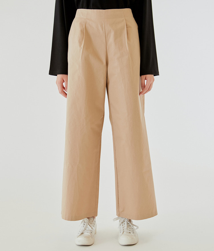 Pintuck Wide Banding Pants