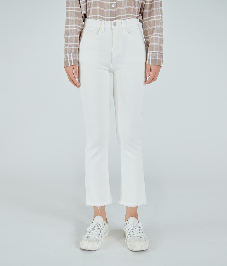 Semi Bootcut Cotton Pants