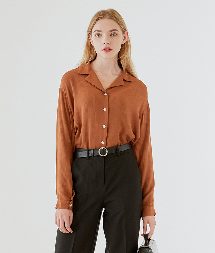 Double Collar Soft Blouse