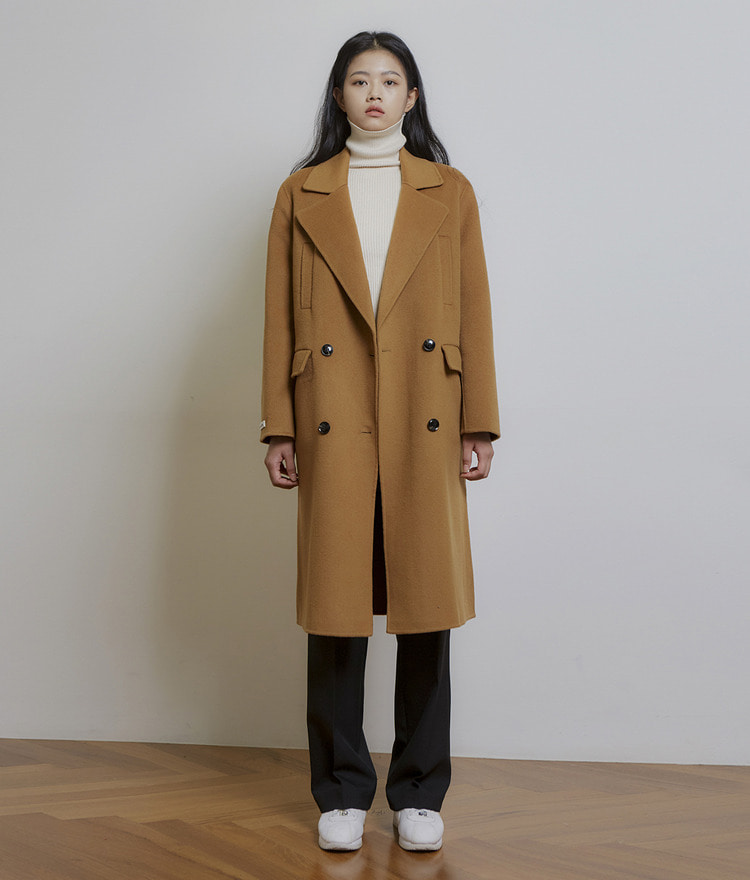 Handmade Double Wool Coat (Wool 90%)
