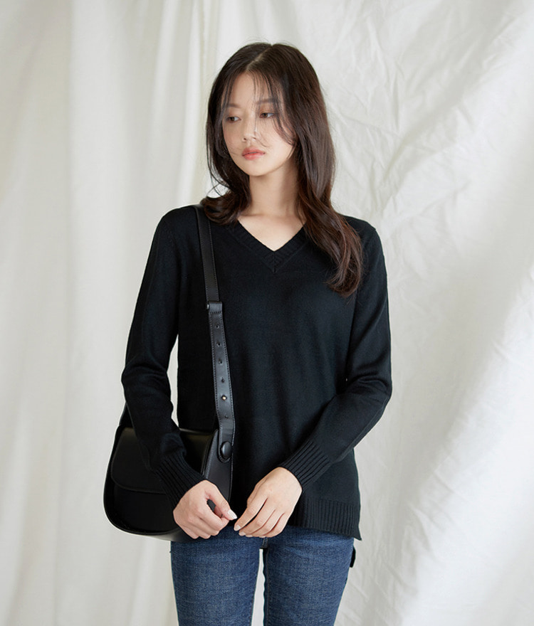 Vane V-neck Knit Top