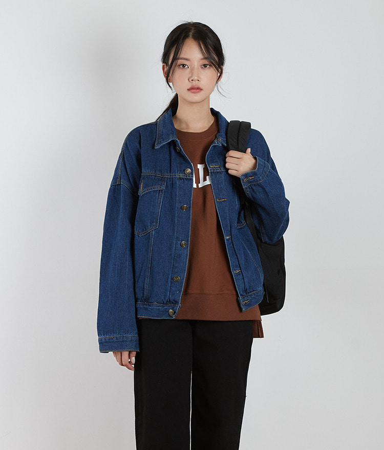 Basic Denim Button Jacket