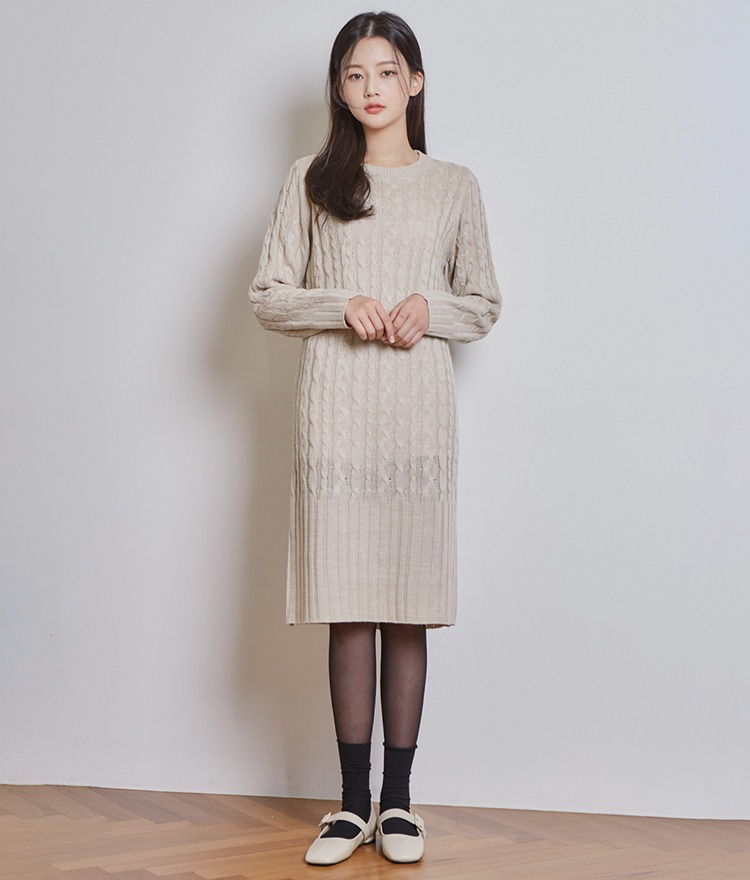 Mary Long Knit Dress