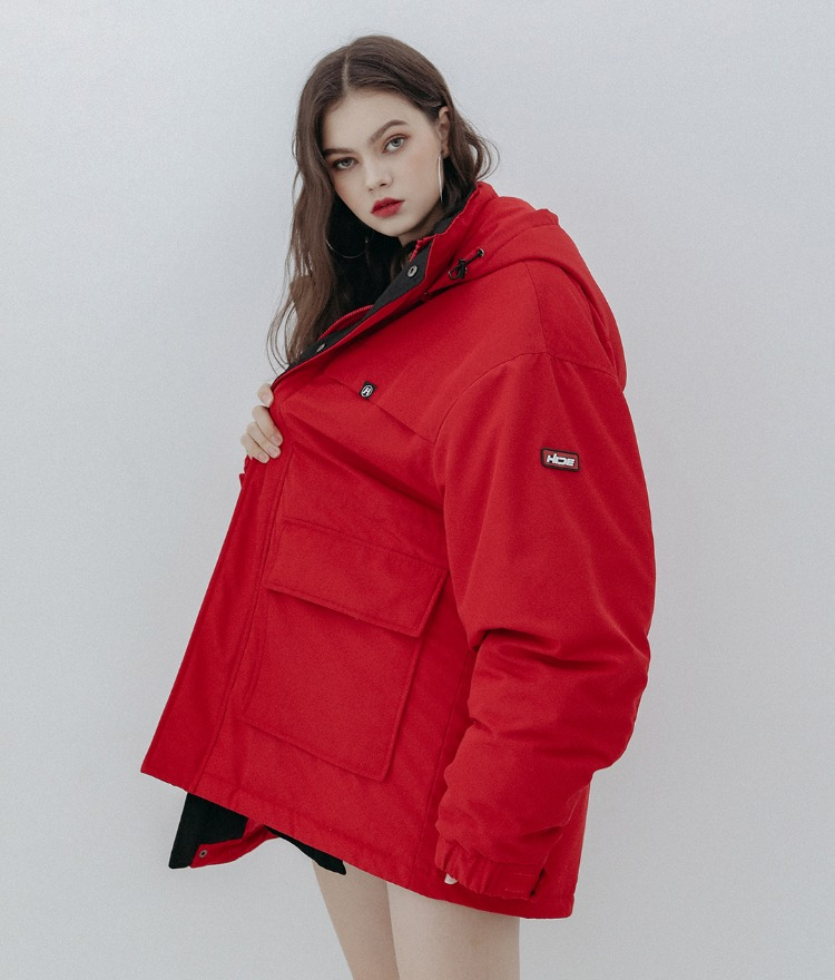 HIDE Future Parka (Dark Red)