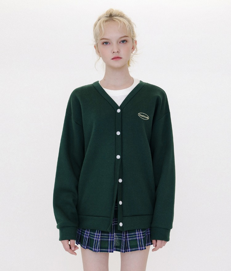 Untitle8 Color Cardigan (기모) (Green)