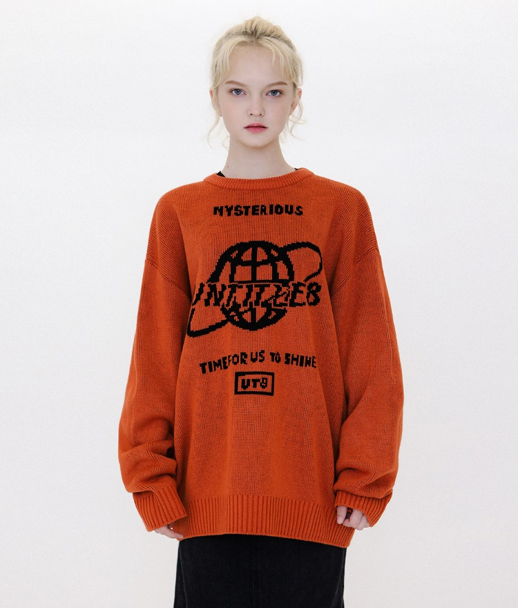 UT8 Logo Space Knit (Dark Orange)