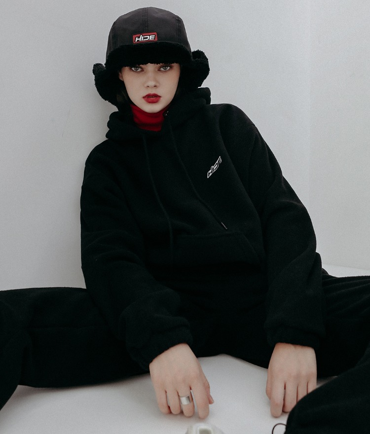 HIDE Future Fleece Hoodie (Black)