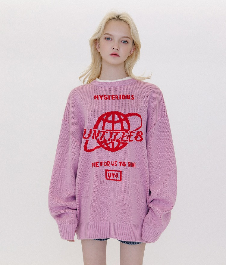UT8 Logo Space Knit (Pink)