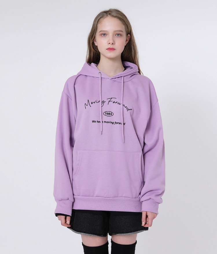 Basic Logo Play Hoodie (Light Purple)