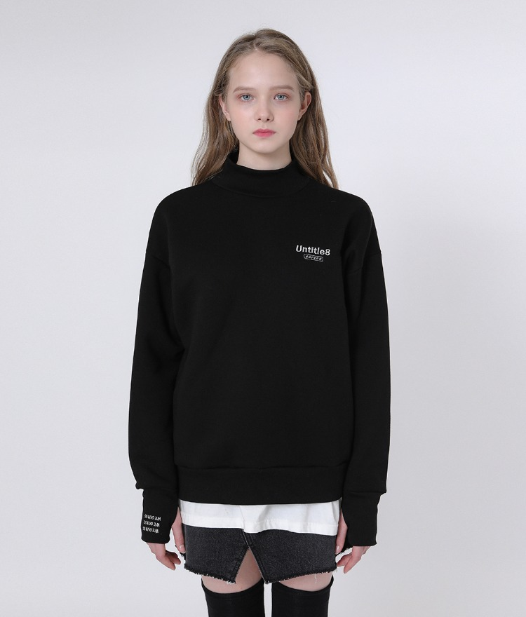 Warmer Neck Sweat Shirt (Black)