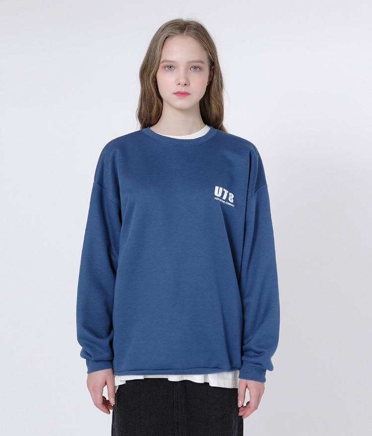 Basic Logo Play Sweat Shirt (Blue)