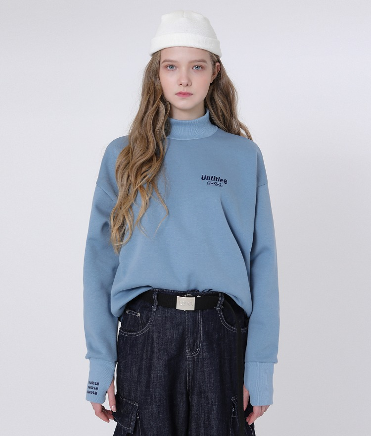 Warmer Neck Sweat Shirt (Sky Blue)