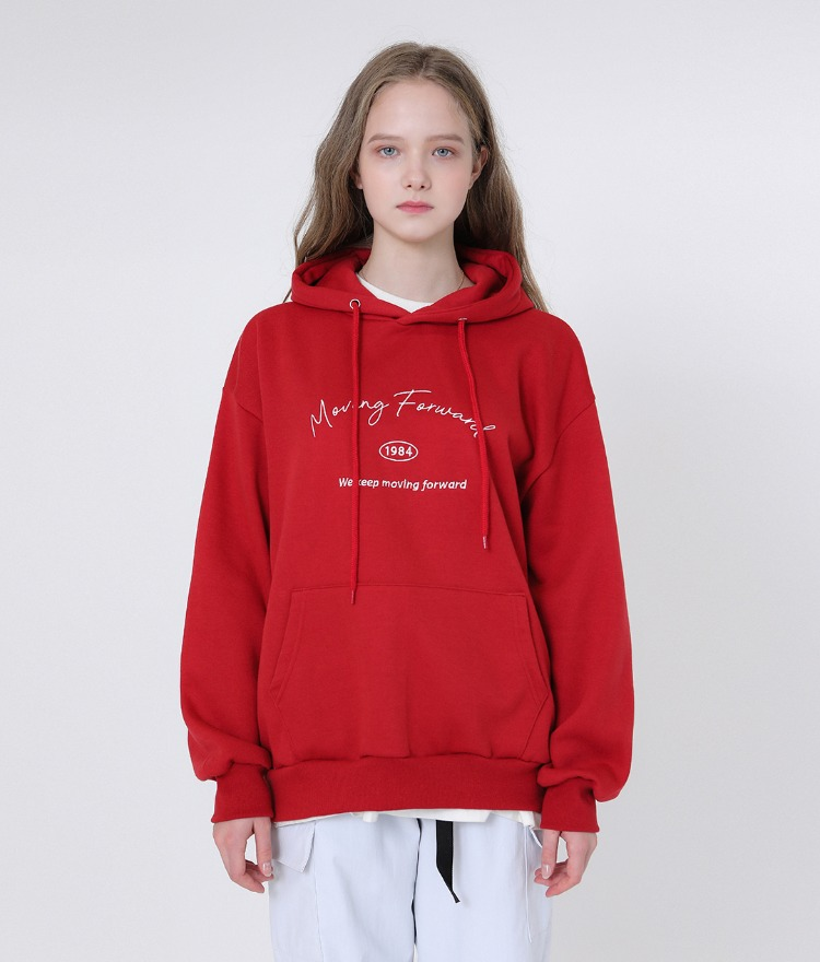 Basic Logo Play Hoodie (Red)