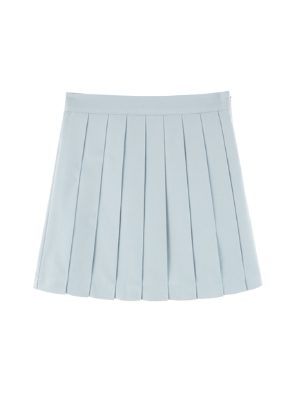 MXM14FWPleated pants skirt (sky blue)good bye see you 15 s/s