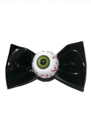 KREEPSVILLE666Eyeball Hairbow Slide (BLACK)