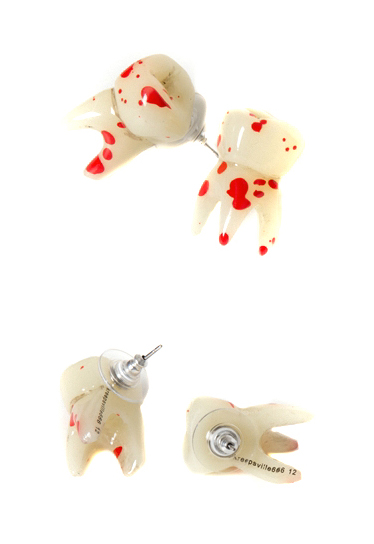 KREEPSVILLE666Breaking Teeth Earrings(2개 SET)