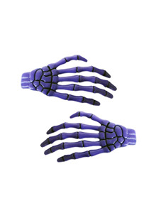 KREEPSVILLE666Skeleton Bone Hand Hairslides Purple