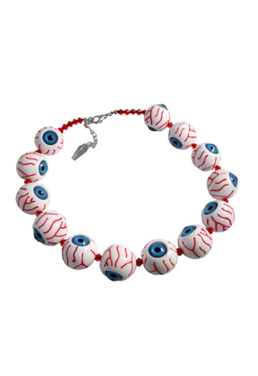 KREEPSVILLE666Blue Eyeball Necklace